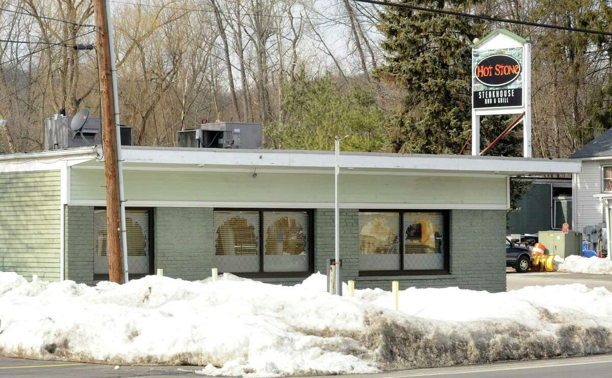 The Hot Stone Steakhouse Bar and Grill sits in the heart of the proposed Four Corners Revitalization Project along Federal Road in Brookfileld, Conn. The plan calls for creating a family-friendly commercial center in the 175-acre area known as Four Corners.