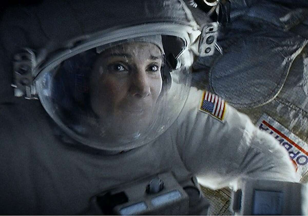 """SANDRA BULLOCK as Ryan Stone in Warner Bros. Pictures' dramatic thriller """"GRAVITY,"""" a Warner Bros. Pictures release."""