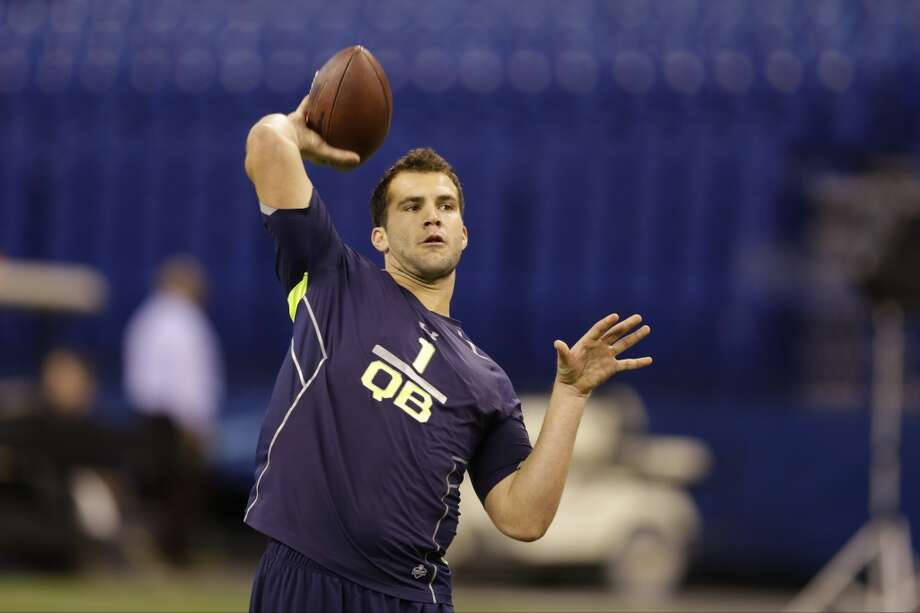 Top performer: QuarterbacksOf the draft's presumed three top quarterbacks, Central Florida's Blake Bortles was the only one to participate in the combine's passing drills. (Louisville's Teddy Bridgewater and Texas A&M's Johnny Manziel will throw at their respective pro days.) Bortles made the most of the opportunity, impressing scouts with his velocity, accuracy and footwork. Given new Houston coach Bill O'Brien's preference for traditional drop-back quarterbacks — like Tom Brady, his former pupil in New England — the 6-foot-5, 232-pound Bortles made a case to be the first player chosen in May's draft. Photo: Michael Conroy, Associated Press