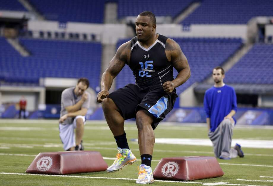 Fit for Seattle: Defensive line The Hawks would love for Donald to slip to them, but if he doesn't Minnesota's Ra'Shede Hageman would be a nice consolation prize. Hageman had a great combine, posting a 5.02 in the 40-yard dash and performing well in agility drills while measuring in at 6-foot-6 and 310 pounds. He could slide into the position vacated by Red Bryant if Bryant is indeed let go, but Hageman's combine performance may ensure he's gone by the time Seattle picks at No. 32. Photo: Michael Conroy, Associated Press