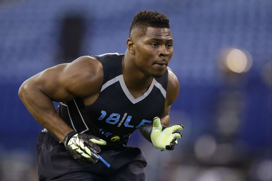 Top performer: Linebackers Buffalo hasn't exactly been a hotspot for NFL prospects, but linebacker Khalil Mack may change that perception a bit. The pass-rush specialist was already considered a potential top-10 pick, but his combine performance may warrant him a spot as the top defensive player chosen. The 6-foot-3, 251-pound Mack combined good speed and elite explosiveness with smooth athleticism, and catapulted himself above UCLA's Anthony Barr as the draft's top linebacker. While it's true that small-school prospects can be downgraded because of relatively weak competition, Mack is already courting interest from teams at the top of the draft. Photo: Michael Conroy, Associated Press