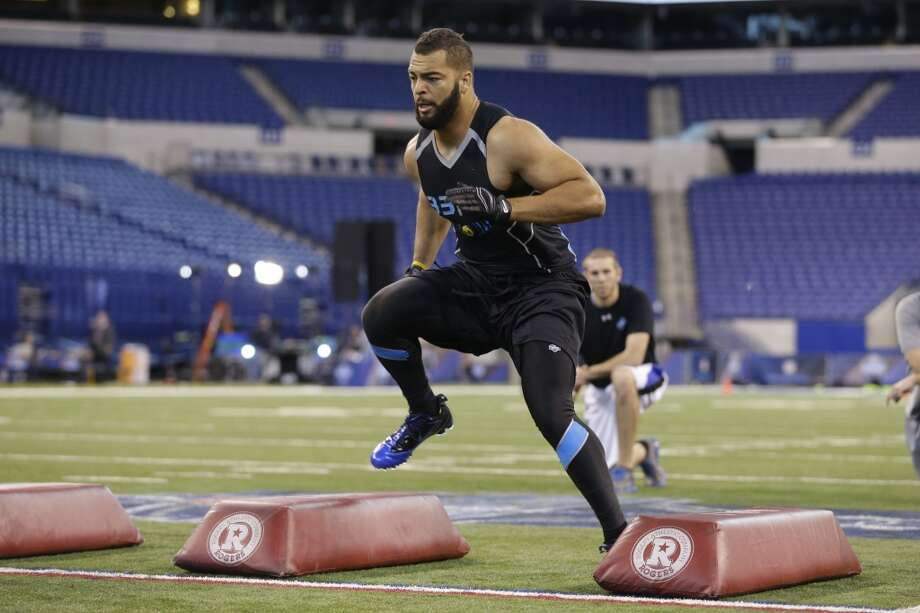 Fit for Seattle: Linebackers With a bevy of young talent at the position, linebacker is another seemingly low priority for Seattle. BYU's Kyle Van Noy could have been a first-round pick if he declared last year, but an up-and-down performance in 2013 — and at the combine — may push him to the mid to late rounds in May. A natural pass-rusher, Van Noy could earn a spot in Seattle behind Bruce Irvin. Photo: Michael Conroy, Associated Press