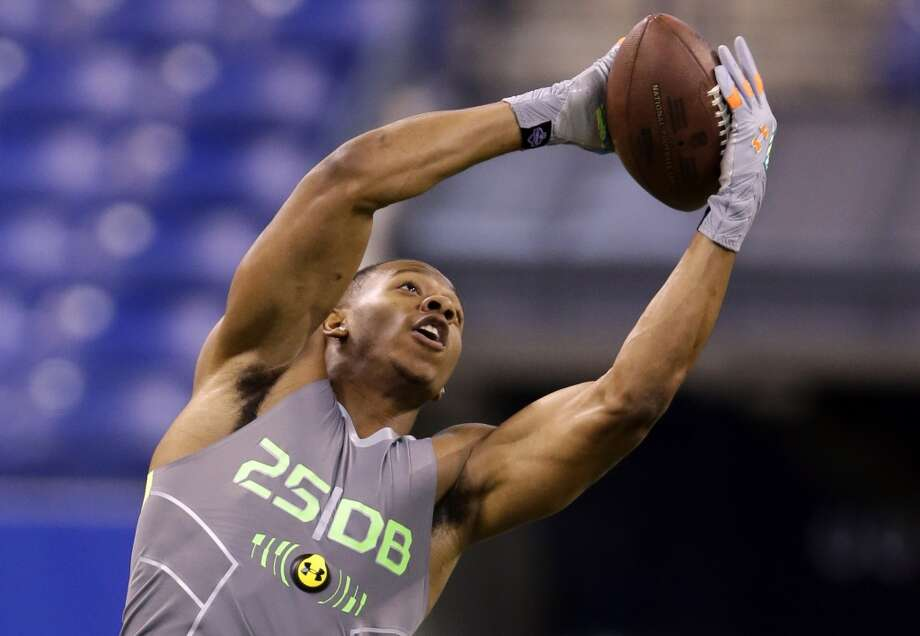 Top performer: Defensive backs After picking off 7 passes for Oklahoma State in 2013, Justin Gilbert was considered one of the best of a deep pool of cornerbacks entering the combine. His workout Tuesday did nothing to dissuade that notion. Gilbert posted the fasted 40 time among all corners at 4.37 seconds, while putting up 20 reps at the bench press — proving he's strong enough to get physical with receivers at the next level. He's almost certainly a top-15 pick. Photo: Michael Conroy, Associated Press