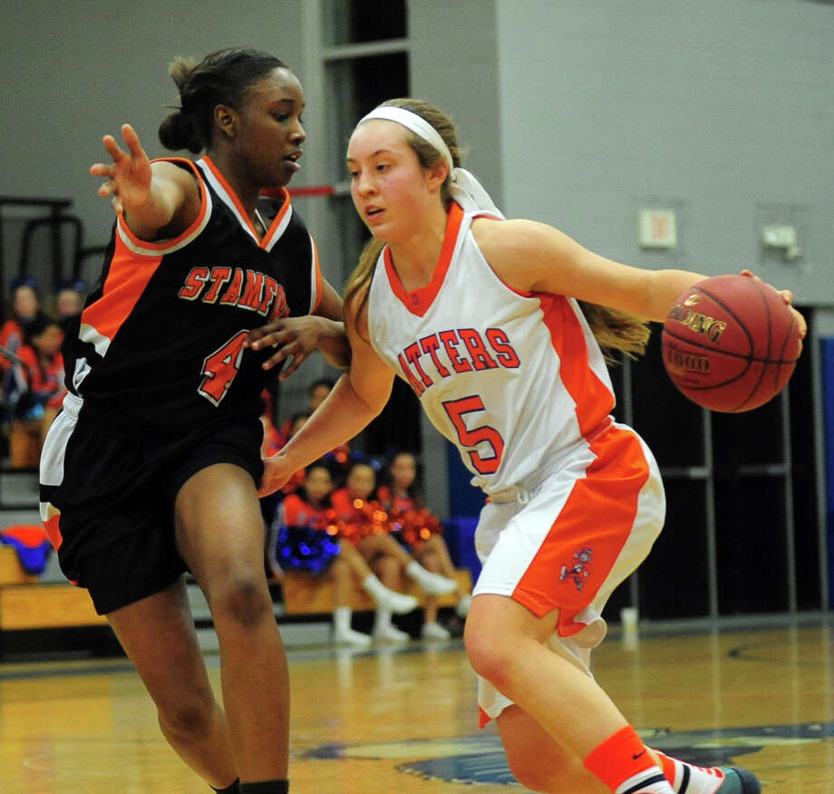 FCIAC Girls' Basketball Semi-final action between Stamford and Danbury in Fairfield, Conn. on Tuesday February 25, 2014. Photo: Christian Abraham / Connecticut Post