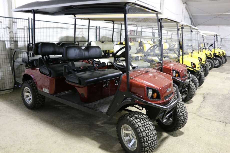 """Golf carts for transporting the public now will be equipped with seat belts at the Houston Livestock Show and Rodeo. This year's change follows an incident during the 2013 show in which Western Art Committee chairman Yvonne """"Bonnie"""" Herndon fell from a golf cart driven by a rodeo volunteer. A year later, Herndon remains in a coma. Her family has sued the rodeo and the driver as well as companies associated with golf cart's manufacturing, design, marketing and distribution. (Contributed photo   Houston Livestock Show and Rodeo marketing department)"""