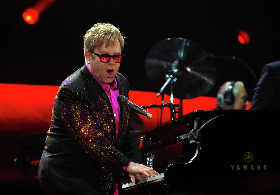 Sir Elton John performs in concert at the Webster Bank Arena in downtown Bridgeport, Conn. on Friday November 8, 2013. Photo: Christian Abraham, Staff Photographer / Connecticut Post
