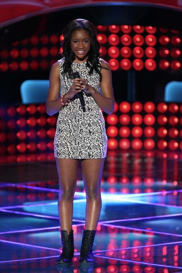 Taft High's Deja Hall sings 'True Colors.' -- (Photo by: Tyler Golden/NBC) Photo: NBC, Tyler Golden/NBC