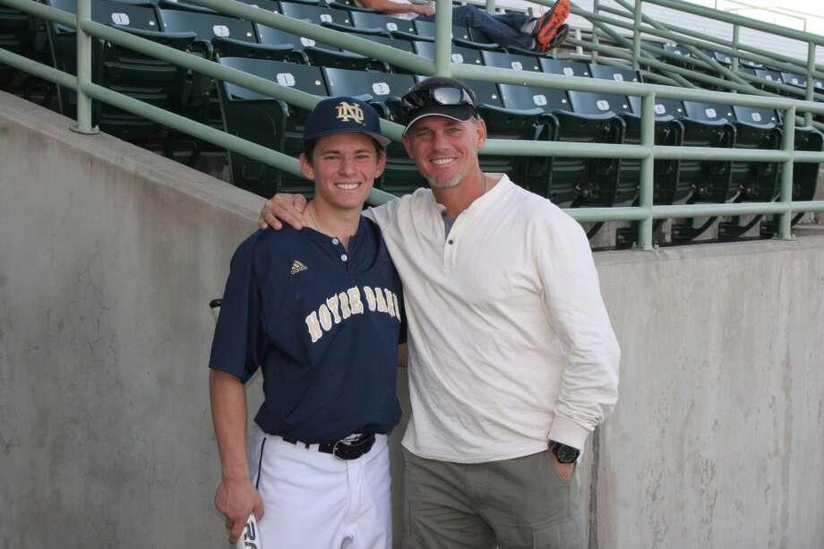 Conor Biggio with Craig in San Antonio.