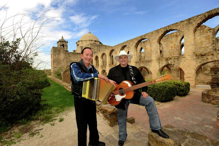 Flaco Jimenez, left, and Max Baca will perform in The Woodlands Saturday. Photo: Tom Pitch
