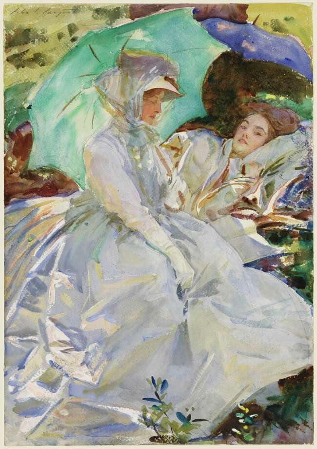 """Simplon Pass: Reading"" is on view at the Museum of Fine Arts, Houston in ""John Singer Sargent Watercolors,"" March 2-May 26. Photo: Museum Of Fine Arts, Boston / ONLINE_YES"