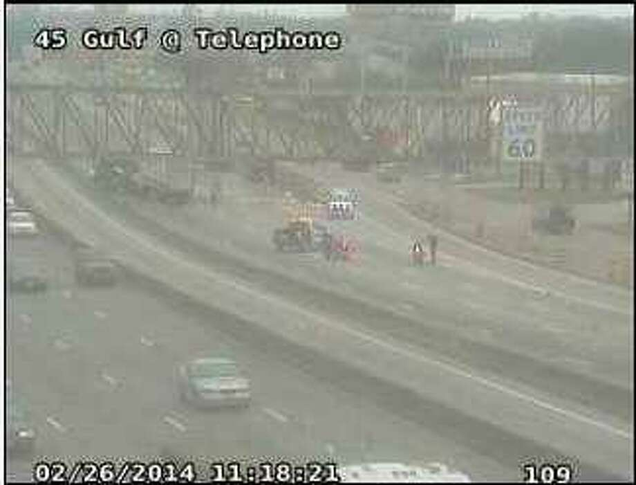 Portions of Interstate 45 are likely to be shut down for hours after a truck mishap Wednesday morning.