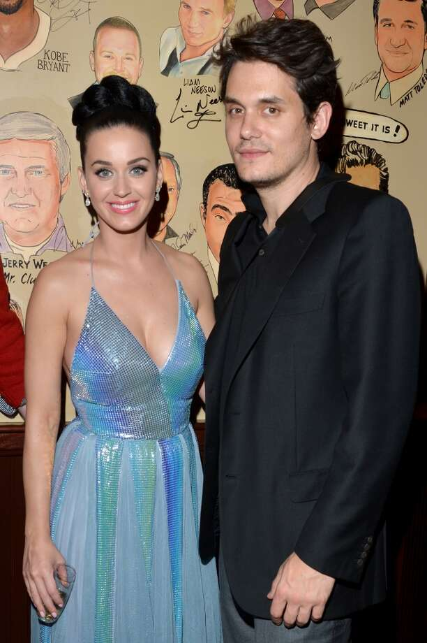 LOS ANGELES, CA - JANUARY 26:  Recording artists  Katy Perry (L) and John Mayer attend the Sony Music Entertainment Post-Grammy Reception at The Palm on January 26, 2014 in Los Angeles, California.  (Photo by Lester Cohen/Getty Images for Sony Music Entertainment)