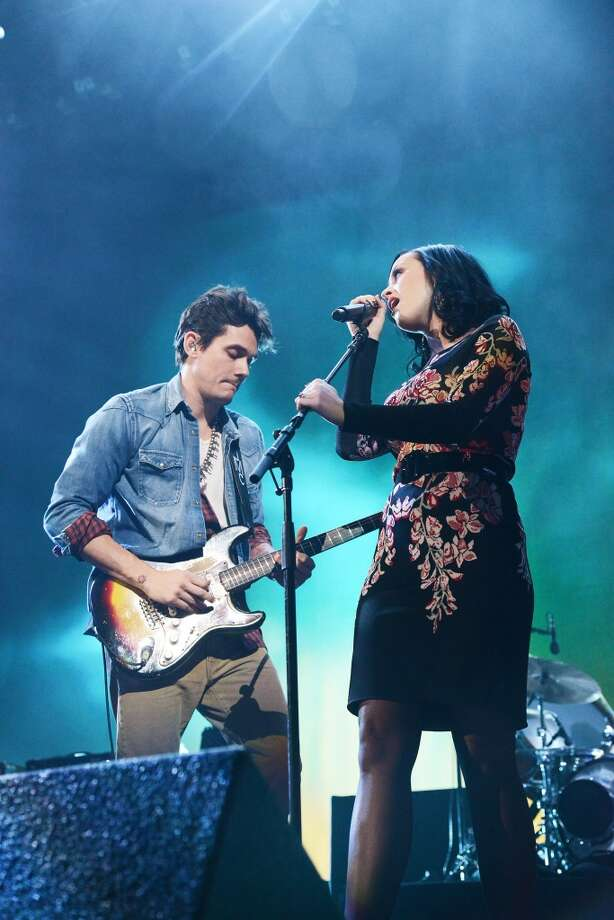 NEW YORK, NY - DECEMBER 17:  (EXCLUSIVE COVERAGE) John Mayer and Katy Perry perform at Barclays Center of Brooklyn on December 17, 2013 in New York City.  (Photo by Zachary Mazur/WireImage) Photo: WireImage
