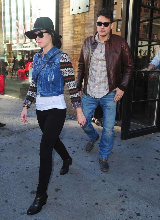 NEW YORK, NY - OCTOBER 16: Katy Perry and John Mayer are seen leaving Soho House Club at Streets of Manhattan on October 16, 2012 in New York City. (Photo by Alo Ceballos/FilmMagic) Photo: FilmMagic