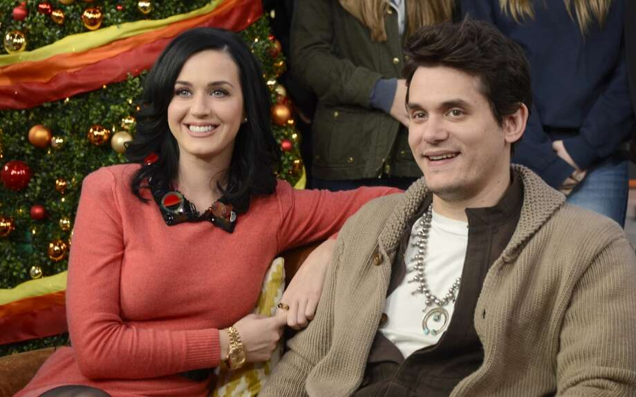 GOOD MORNING AMERICA - Ksty Perry and John Mayer visited Times Square to debut the world exclusive premiere of the music video Who You Love on GOOD MORNING AMERICA, 12/17/13, airing on the ABC Television Network.   (Photo by Ida Mae Astute/ABC via Getty Images)  KATY PERRY, JOHN MAYER Photo: ABC Via Getty Images