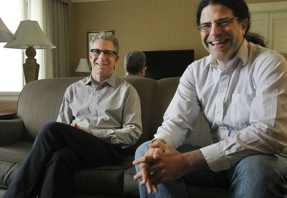 Director Mark Levinson (left) and producer David Kaplan's film traces the discovery of the Higgs boson, a particle that confers mass on everything else. Photo: Leah Millis, The Chronicle