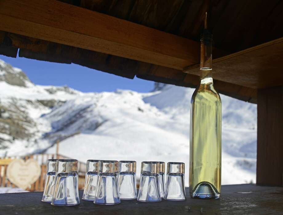 The popular local liqueur genepi is distilled from the same wormwood plants as absinthe, so consume with caution. Photo: Bill Fink