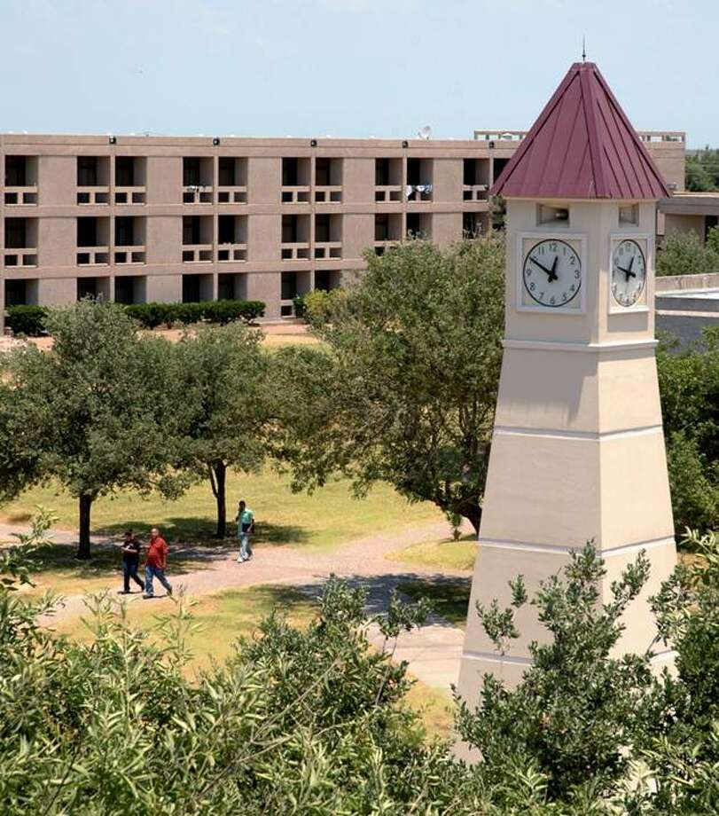 Shown is the clock tower on the campus of Texas A&M University at Galveston.