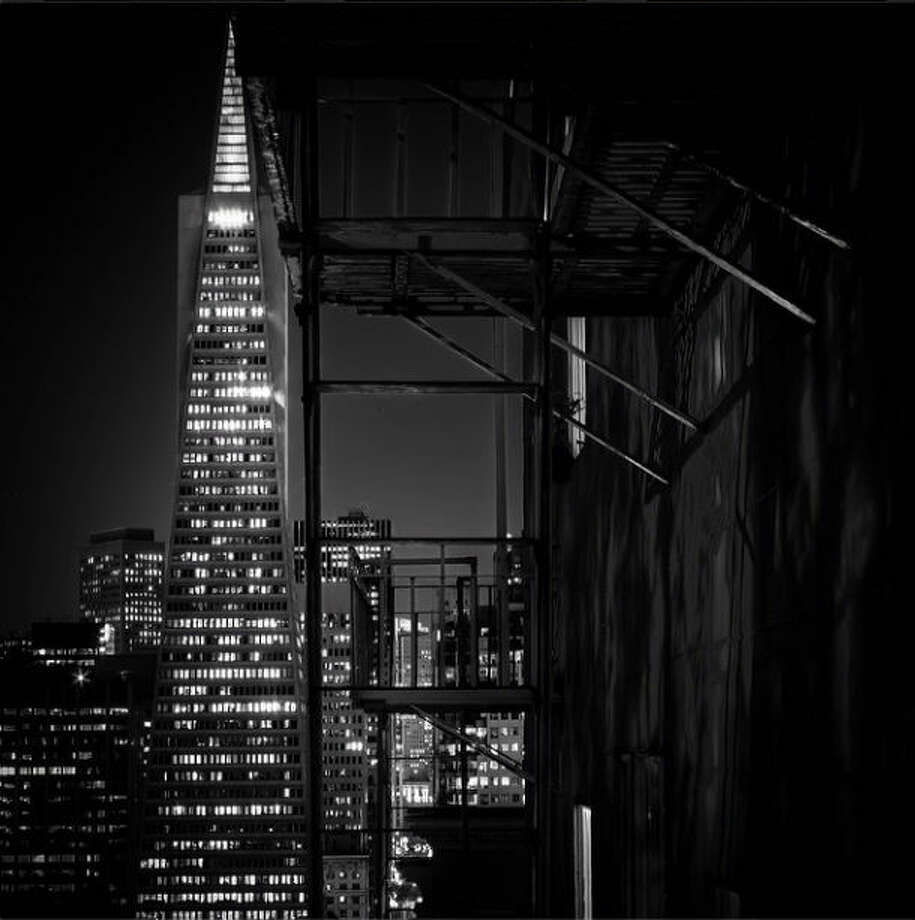 "A stunning night shot from. Eric B., @ericbravophotography, who writes:  ""Every night the Transamerica Pyramid lights up the streets of San Francisco. Tonight is no exception."""