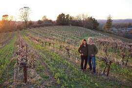 Jonathan Lachs and Susan Marks produce a number of sustainably grown varietals from granitic soils at 2,500 feet elevation in the Sierra Foothills at Cedarville Vineyard in the Fair Play Appellation near Somerset, Calif., Saturday, February 21, 2014.