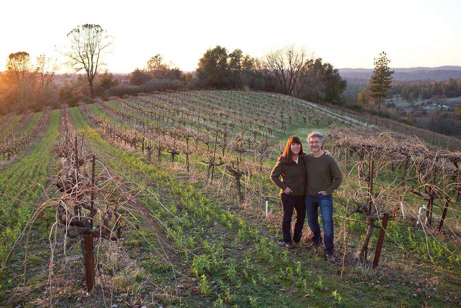 Jonathan Lachs and Susan Marks grow a wide range of grapes in granitic soils at 2,500 feet elevation at Cedarville Vineyard in the Fair Play appellation. Photo: Jason Henry, Special To The Chronicle