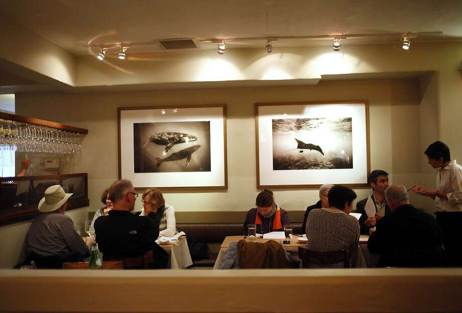 One of the dining areas at Passionfish in Pacific Grove, which was the first restaurant in the area to be certified by Monterey County's Green Business Program. Photo: Sarah Rice, Special To The Chronicle