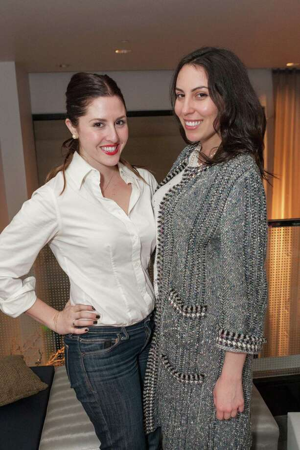 Erin Finnegan and Bianca Nolfi at the Junior League of San Francisco's Fashion Show Launch Party on February 20, 2014. Photo: Drew Altizer Photography/SFWIRE, Drew Altizer Photography / ©2014 by Drew Altizer, all rights reserved