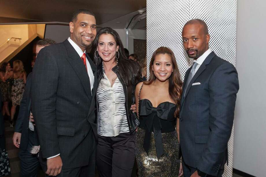 Antoine Stevenson, Bilques Smith, Lillian Phan and Jimi Harris at the Junior League of San Francisco's Fashion Show Launch Party on February 20, 2014. Photo: Drew Altizer Photography/SFWIRE, Drew Altizer Photography / ©2014 by Drew Altizer, all rights reserved
