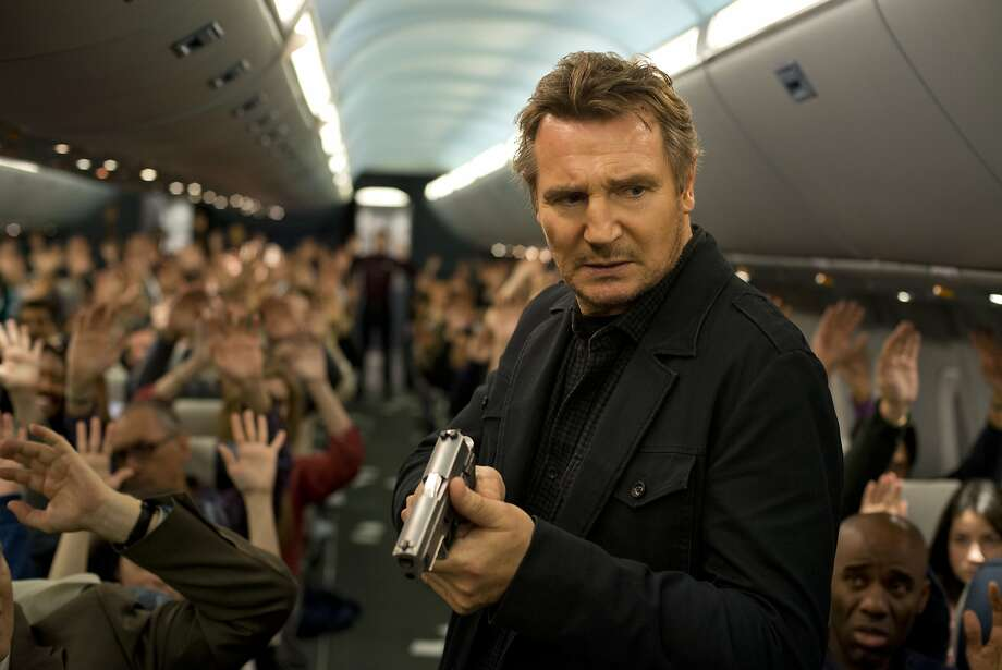 "Global action star LIAM NEESON stars in ""Non-Stop"", a suspense thriller played out at 40,000 feet in the air. During a transatlantic flight from New York City to London, U.S. Air Marshal Bill Marks (Neeson) receives a series of cryptic text messages demanding that he instruct the airline to transfer $150 million into an off-shore account. Until he secures the money, a passenger on his flight will be killed every 20 minutes. Photo: Myles Aronowitz, Universal Pictures"