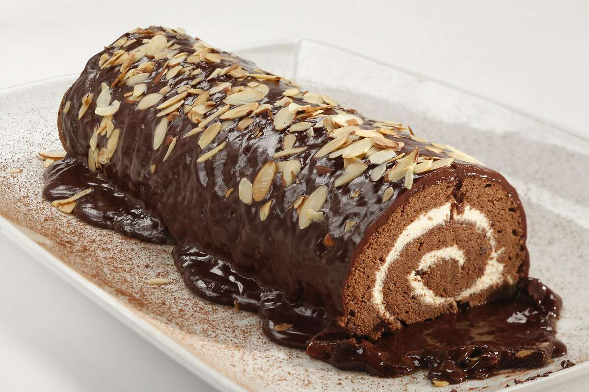 Chocolate Cinnamon Cream Roulade as seen in San Francisco, California on Wednesday, February 19, 2014. Food styled by Calvin Rouse, III.