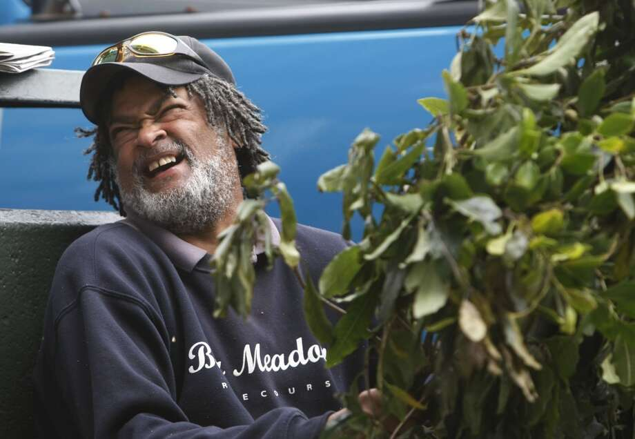 'Bushman' Gregory Jacobs is seen at Fisherman's Wharf in a 2008 file photo. Jacobs died this week at age 60. Photo: Mike Kepka, The Chronicle
