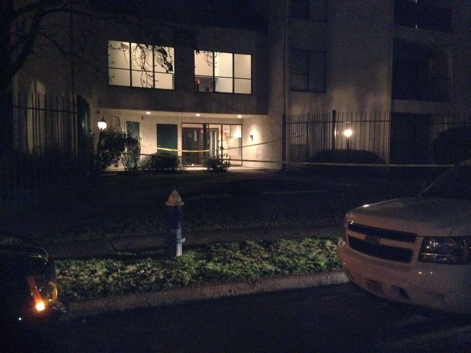 A man was killed Wednesday evening at the Hearthwood II condominiums near Reliant Arena. Photo: Mike Glenn, Chronicle