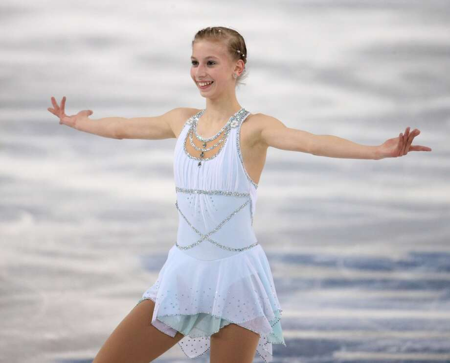 BEST: San Jose's Polina Edmunds didn't win a medal on Feb. 20, but her grecian goddess-inspired outfit inspires one word: lovely. (Brian Cassella/Chicago Tribune/MCT) Photo: Brian Cassella, McClatchy-Tribune News Service