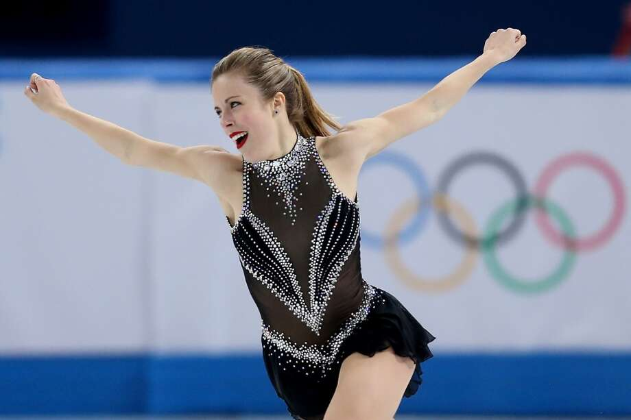 WORST: Ashley Wagner has been quoted as saying  she wants to look sexy, but the look with this plunging V-neck, worn in the team competition Feb. 8, veers into Las Vegas showgirl territory. Save it for the Ice Follies. Photo: Matthew Stockman, Getty Images