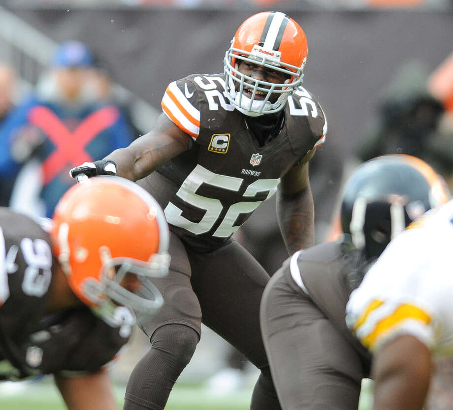 Linebacker D'Qwell Jackson, who started 96 games in eight seasons with the Cleveland Browns, was released Wednesday. The 31-year-old is free to sign with any team. Photo: Diamond Images / Getty Images / 2013 Diamond Images