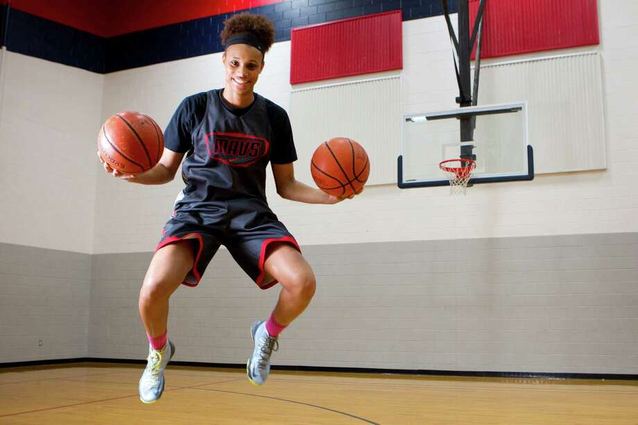 Manvel's Brianna Turner, whose father played at Lamar and mother at UH, is bound for Notre Dame. But foremost on her mind is Friday's 5A state semi vs. Plano West. Photo: Brett Coomer, Staff / © 2014 Houston Chronicle