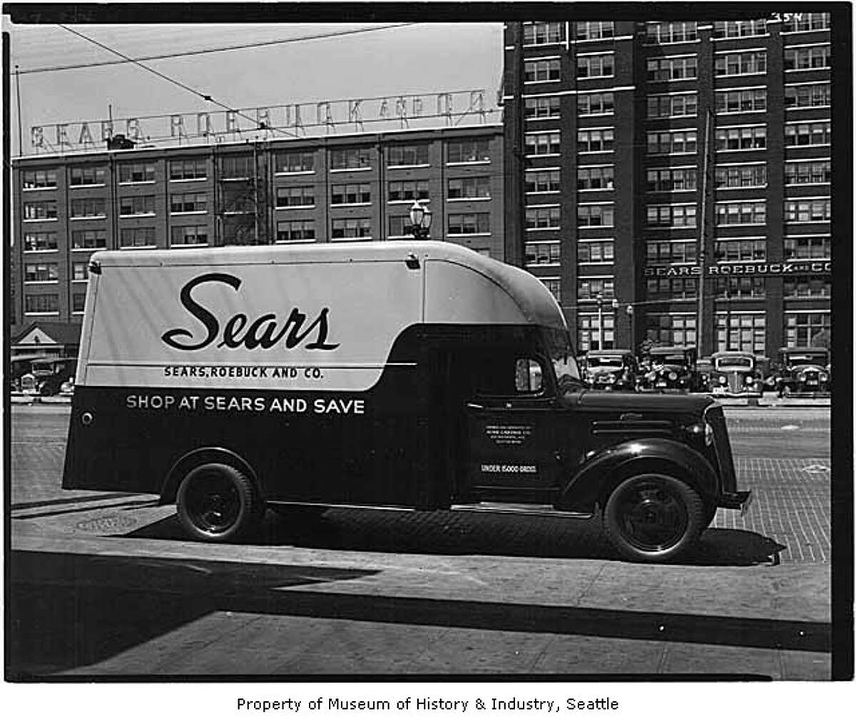 Records are fuzzy on when Sears, Roebuck & Co. came to Seattle. An old P-I story says Sears opened in 1925, while MOHAI archives say the company was here in 1910. It's possible Sears first opened a warehouse and then a retail outlet. Whatever the case, the store that once sold chickens and DIY home kits - along with underwear and vacuum cleaners - has been in Seattle for roughly a century. It closed in June of 2014. (Photo: 1937, copyright MOHAI, Webster & Stevens, 1983.10.13750.3).