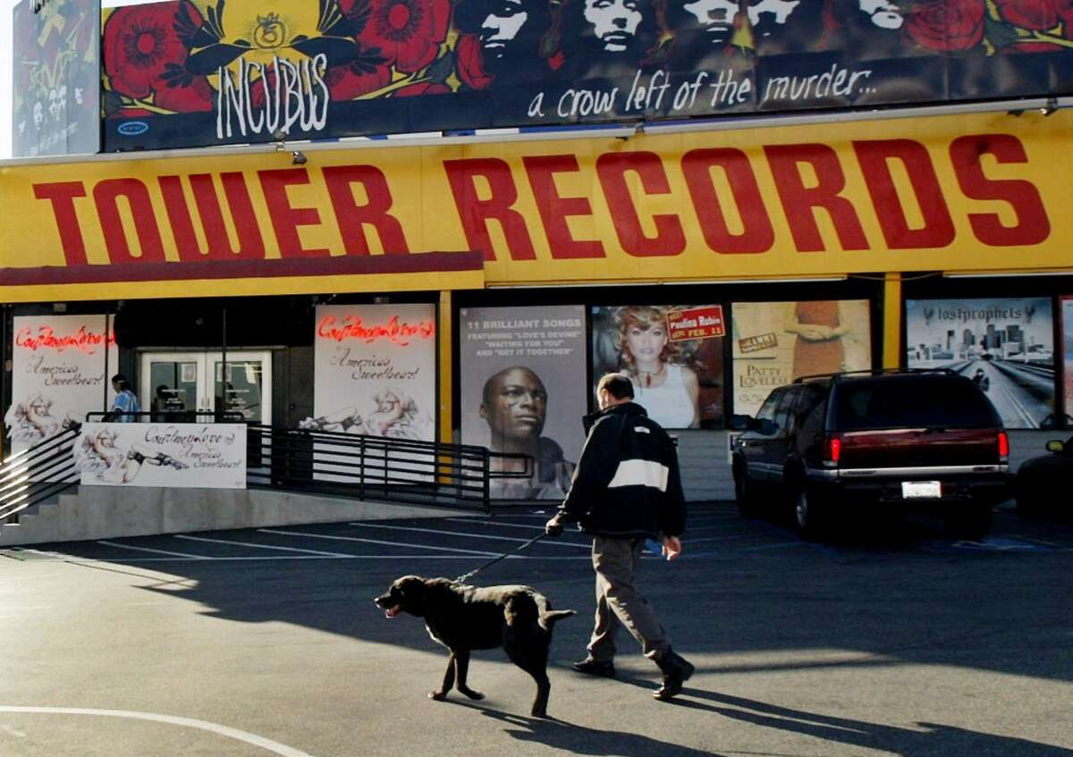 Tower Records Tower Records was the place to flip through records late Friday and Saturday nights, until it filed for bankruptcy in 2006.