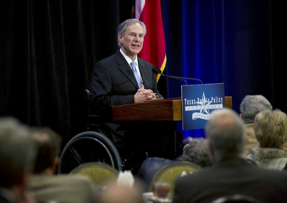 Texas Attorney General Greg Abbott, Republican candidate for Texas Governor, addresses the Texas Public Policy Foundation closing luncheon keynote at the Sheraton Friday, Jan. 10, 2014 in Austin, Texas.  (AP Photo/Austin American-Statesman, Ralph Barrera) Photo: Ralph Barrera, Associated Press