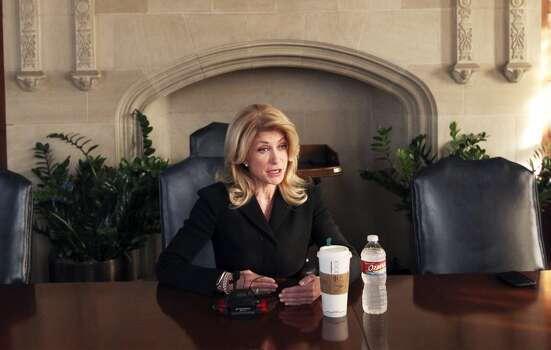 Texas Democratic gubernatorial candidate Wendy Davis spoke to the San Antonio Express-News Editorial Board on Thursday, Feb. 13, 2013. (AP Photo/San Antonio Express-News, Kin Man Hui) Photo: Kin Man Hui, Associated Press