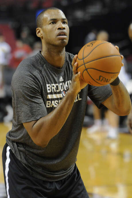 Jason Collins, who announced he was gay last May, is with the Nets on a 10-day deal. Photo: Greg Wahl-Stephens / AP / FR29287 AP