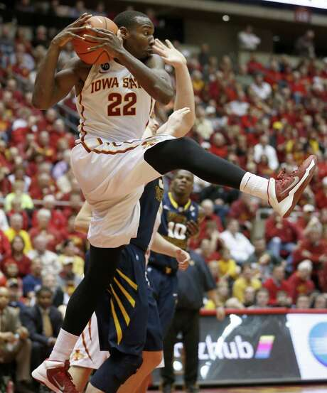 Iowa State's Dustin Hogue grabs a rebound during the second half of a runaway victory over West Virginia. The Cyclones have won at least 10 Big 12 games for three straight seasons. Photo: Justin Hayworth / Associated Press / FR170760 AP