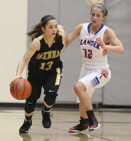Freshman point guard Megan Valdez (left) averages 4.7 points and shoots 34.6 percent on 3-pointers for top-ranked Brennan. Photo: Kin Man Hui / San Antonio Express-News / ©2013 San Antonio Express-News