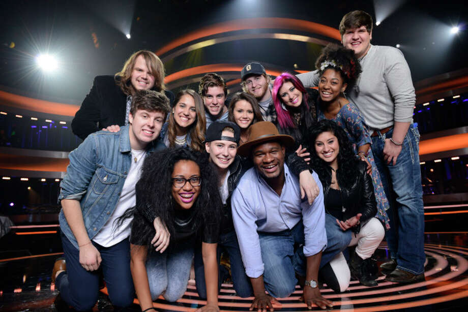 AMERICAN IDOL XIII: TOP 13: Clockwise From Top Left: Caleb Johnson,  Emily Piriz, Sam Woolf, Kristen O'Connor,  Ben Briley, Jessica Meuse, Majesty Rose,  Dexter Roberts, Jena Irene,  C.J. Harris,  MK Nobilette, Malaya Watson and Alex Preston. CR: Michael Becker / FOX. Copyright 2014 / FOX Broadcasting.