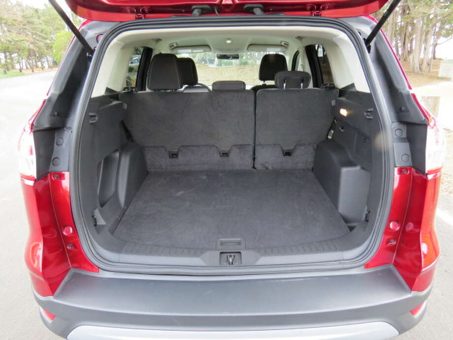 Cargo room is 68 cubic feet with the second row of seats folded and 34 cubic feet with passengers in those rear seats.