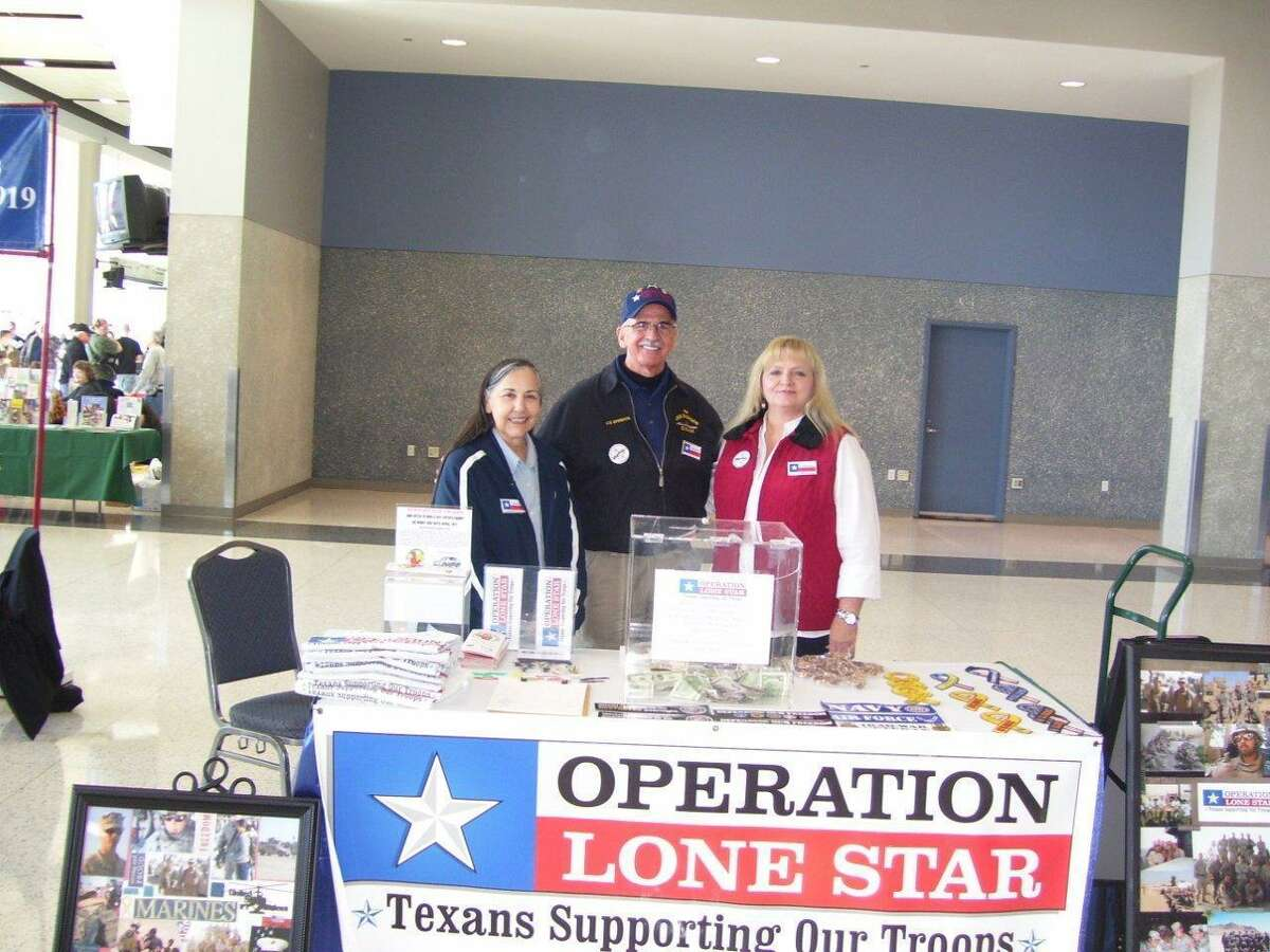 Operation Lone Star President Jim Conley, center; vice president Judy Pierce, left; and secretary/treasurer Sandy Alexander, right, give their time to Operation Lone Star.