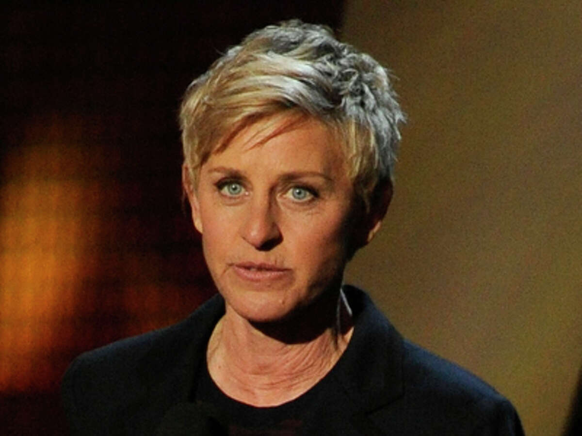 Ellen DeGeneres accepts the award for favorite daytime TV host at the 40th annual People's Choice Awards at the Nokia Theatre L.A. Live on Wednesday, Jan. 8, 2014, in Los Angeles.