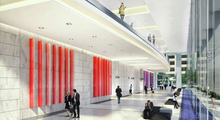 Rendering of 6 Houston Center, Lobby interior HKS Architects, courtesy of Crescent Photo: HKS Architects, Courtesy Of Cres
