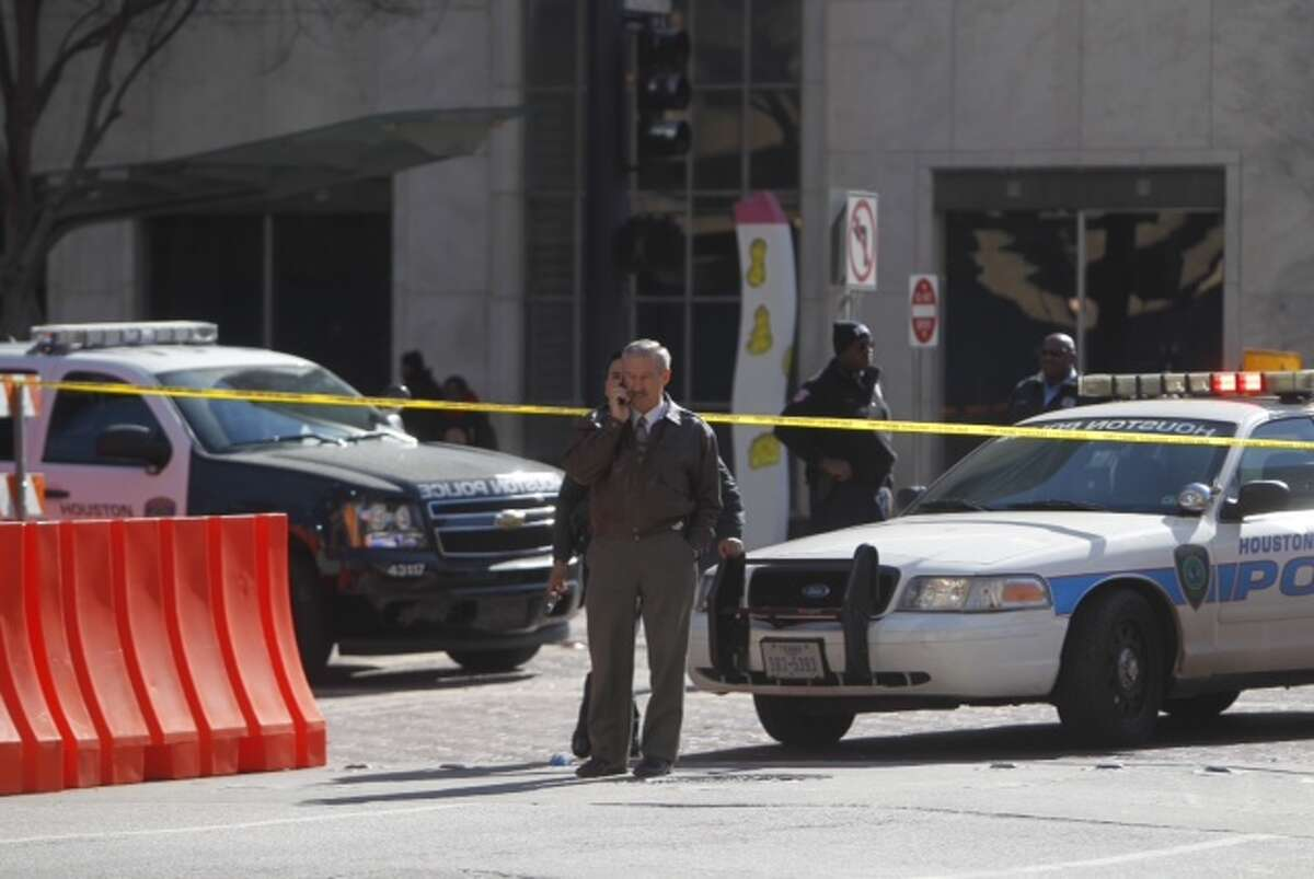 A Houston police officer shot a suspect about 9:25 a.m. Thursday at a Stabucks coffee shop at 1000 Dallas near Main.