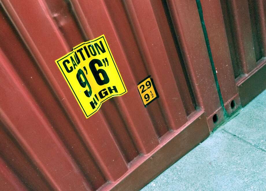 In case there's any doubt the park is using real shipping containers as the main source of building material, the labels and dents make it clear. Photo: Spud Hilton, Bad Latitude